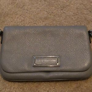 Marc by Marc Jacobs gray leather crossbody